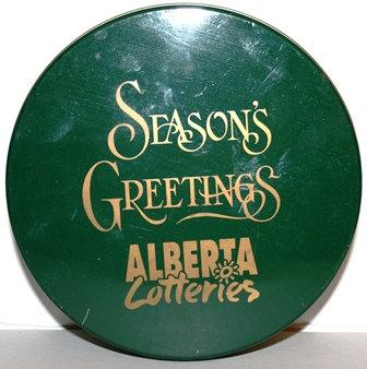 Vintage Chocolates Tin Alberta Lotteries