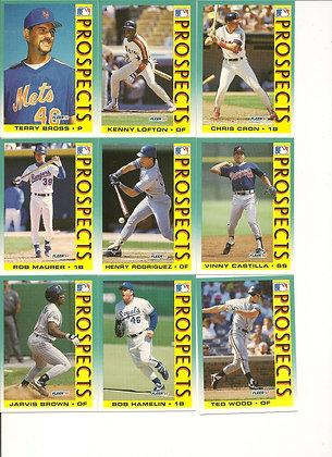 1992 Fleer 'Prospects' (Set of 9)