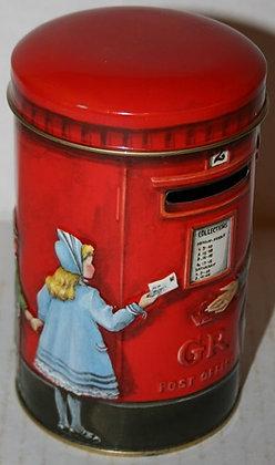England Post Box Tin Bank