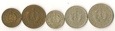 1962 Bulgaria Stotinki Coins Lot (5)