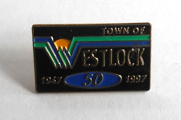 Westlock Alberta Lapel Pin 50th  Anniversary