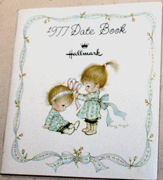 Vintage Hallmark Date Book 1977