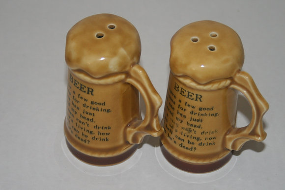 Salt and Pepper Shakers Shaker Beer Stein