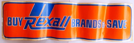 Vintage Old Rexall Drug Decal Sticker