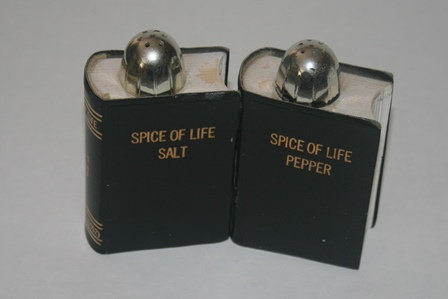 """""""Spice of Life"""" Salt and Pepper Shakers"""