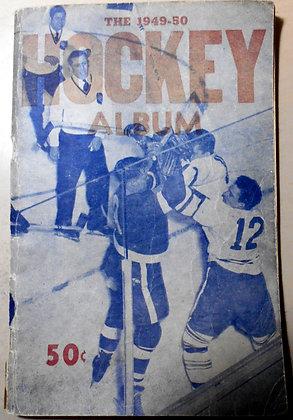 1949-50 NHL HOCKEY ALBUM - beautiful TUROFSKY Orig