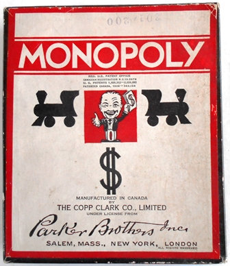 RARE 1936 Monopoly Game Canadian Version