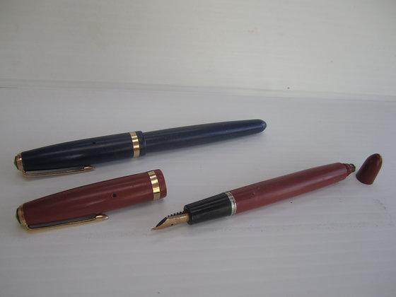 Parker Fountain Pen W/Button Filler & 14Kt Nib