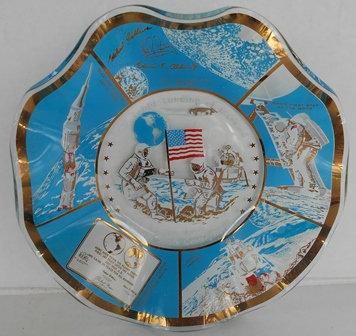 Landing on the Moon - Souvenir Glass Dish (1969)