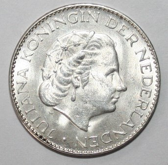 1966 Netherland 1 G silver Coin