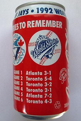 Coca Cola Toronto Blue Jays 1992 World Series Baseball Coke Can Unopened