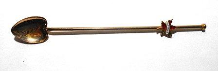 Gold LEAF Shape Long Bar Stir Spoon