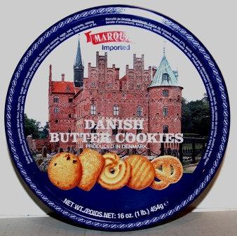 Danish Butter Cookie Tin Marque Paris
