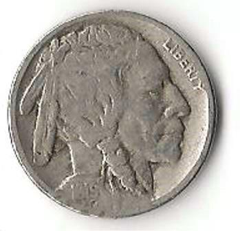1919 BUFFALO NICKEL  INDIAN HEAD BISON