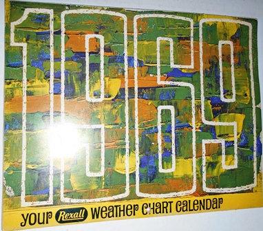1969 Rexall Drugs Weather Chart Calendar