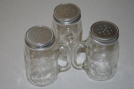 Vintage Mason Jar Salt and Pepper Shakers