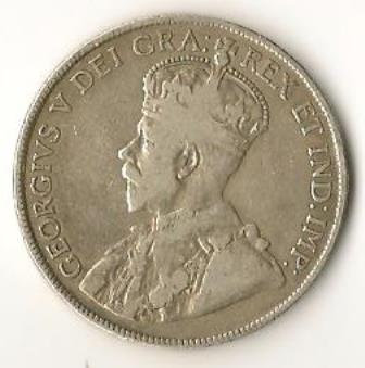 1918 50 Cents Silver Newfoundland - Canada - King