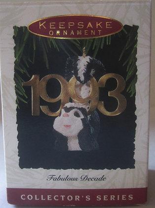1993 Hallmark Fabulous Decade Christmas Ornament