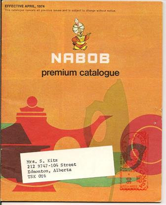 Nabob Coupon Redemption Gift Catalogue