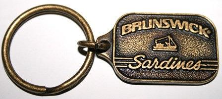 Vintage Brunswick Sardines Brass Key Ring