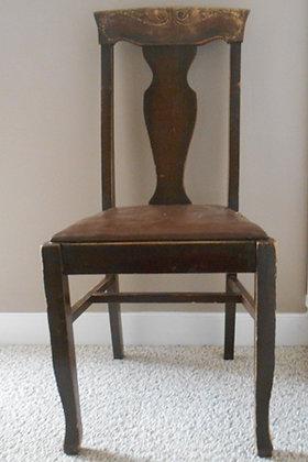 Vintage Dark Brown Dining Room Chair