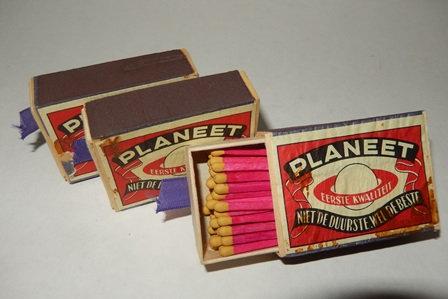 Dutch-Made Planeet Brand Matchboxes