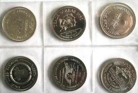 Westlock Souvenir Trade Dollars Lot (6)