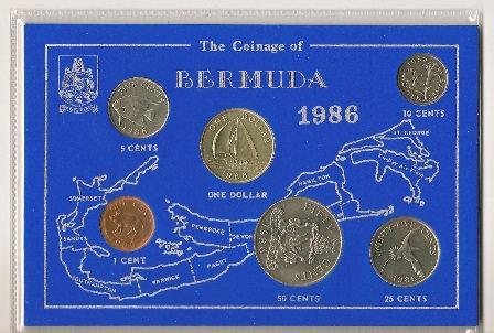1986 Bermuda Coin Set