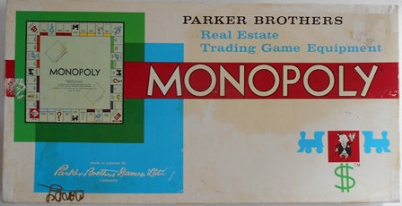 Vintage Monopoly Game Made in Toronto