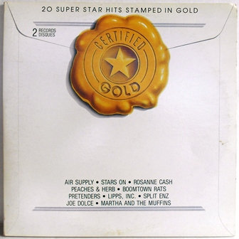 K-Tel 20 Superstar Hits Stamped in Gold