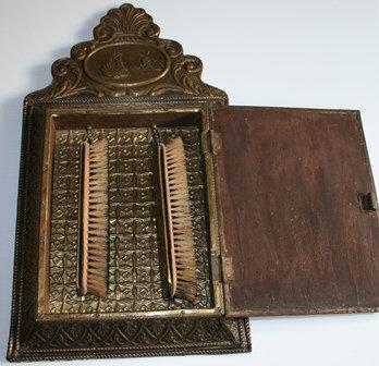 Vintage Brass Mirror Brush  Cabinet