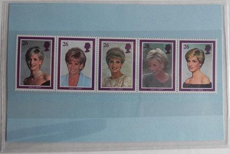 Princess Diana  5 Stamps (1961-1997)
