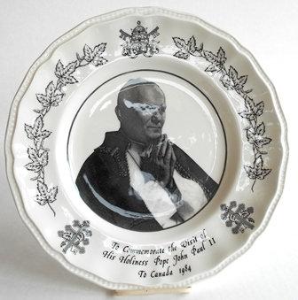 Pope John Paul II- 1984 Plate Rare