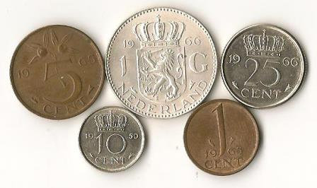 Netherlands 1960's Coins Lot