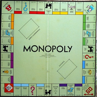 Monopoly Game Board 1935