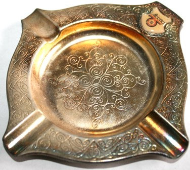 Vintage Silver Plated Embossed Ashtray Souvenir