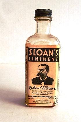 Antique Sloan's Liniment -- 2 1/2 fl. ozs. bottle