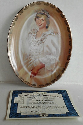 The Peoples Princess Plate with Certificate