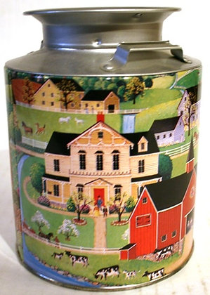 Vintage Candy Milk Can Tin