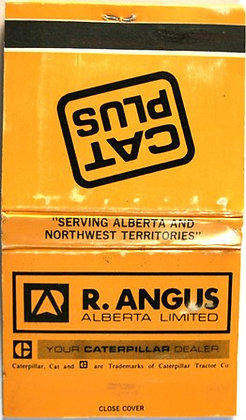 R ANGUS COMPLETE UNUSED YELLOW MATCHBOOK