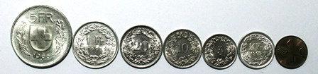 Switzerland/Helvetica Excellent Coins Lot (7)