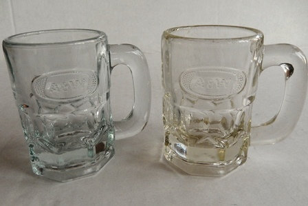 Vintage Baby A&W Root Beer Mug Clear Glass