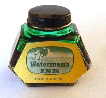 Waterman's Tropic Green Ink Bottle
