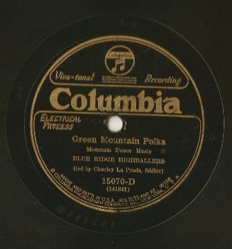 Columbia Records Green Mountain Polka