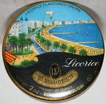 Vintage French Licorice Drops Tin