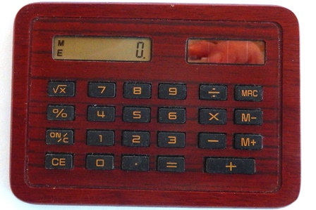 Solar Calculator In Wood Setting