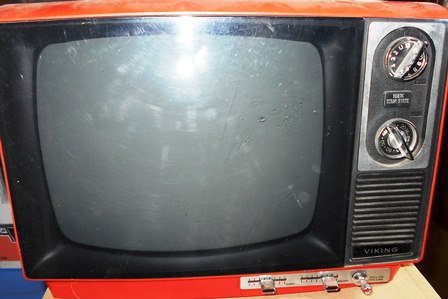 Vintage Red Viking  Blk and Wht TV