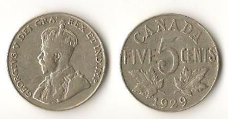 1929 Canada 25 Cent Nickel (2)