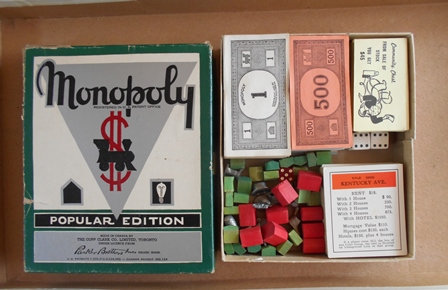 Vintage Canadian Monopoly Board Game