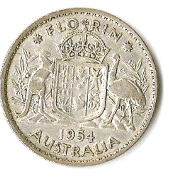 1954 Australian Florin